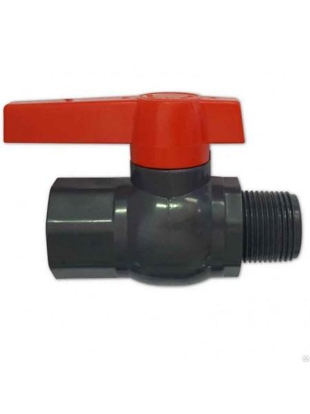 Кран шаровый Presto-PS 19 мм с наружной и внутренней резьбой 3/4 дюйма